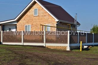 Готовый забор для деревянного дома