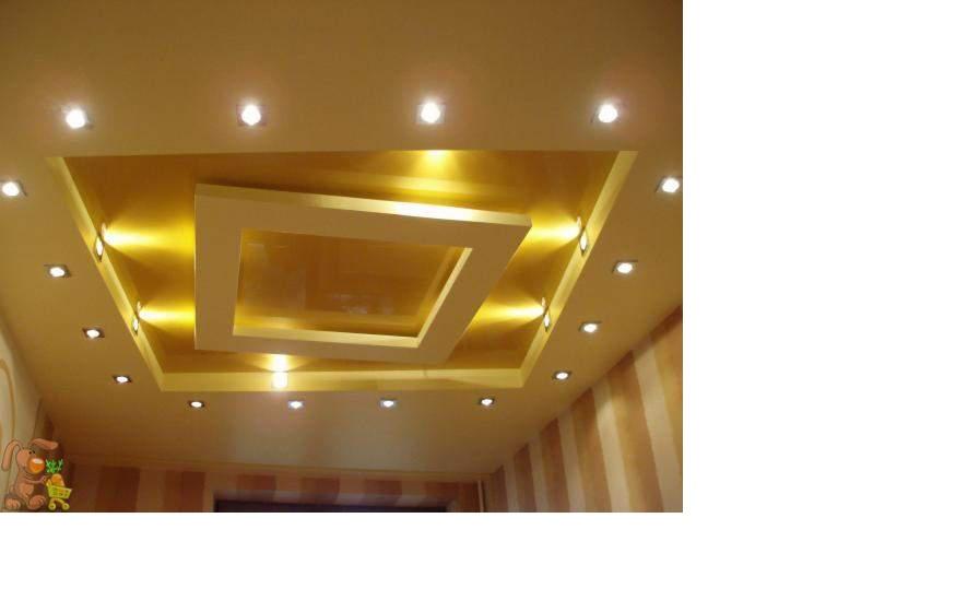 Потолок из гипсокартона многоуровневый своими руками