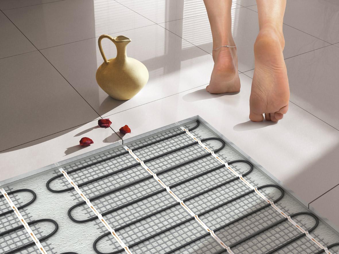 Теплый водяной пол в ванной комнате