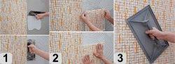 как положить плитку в ванной пошагово