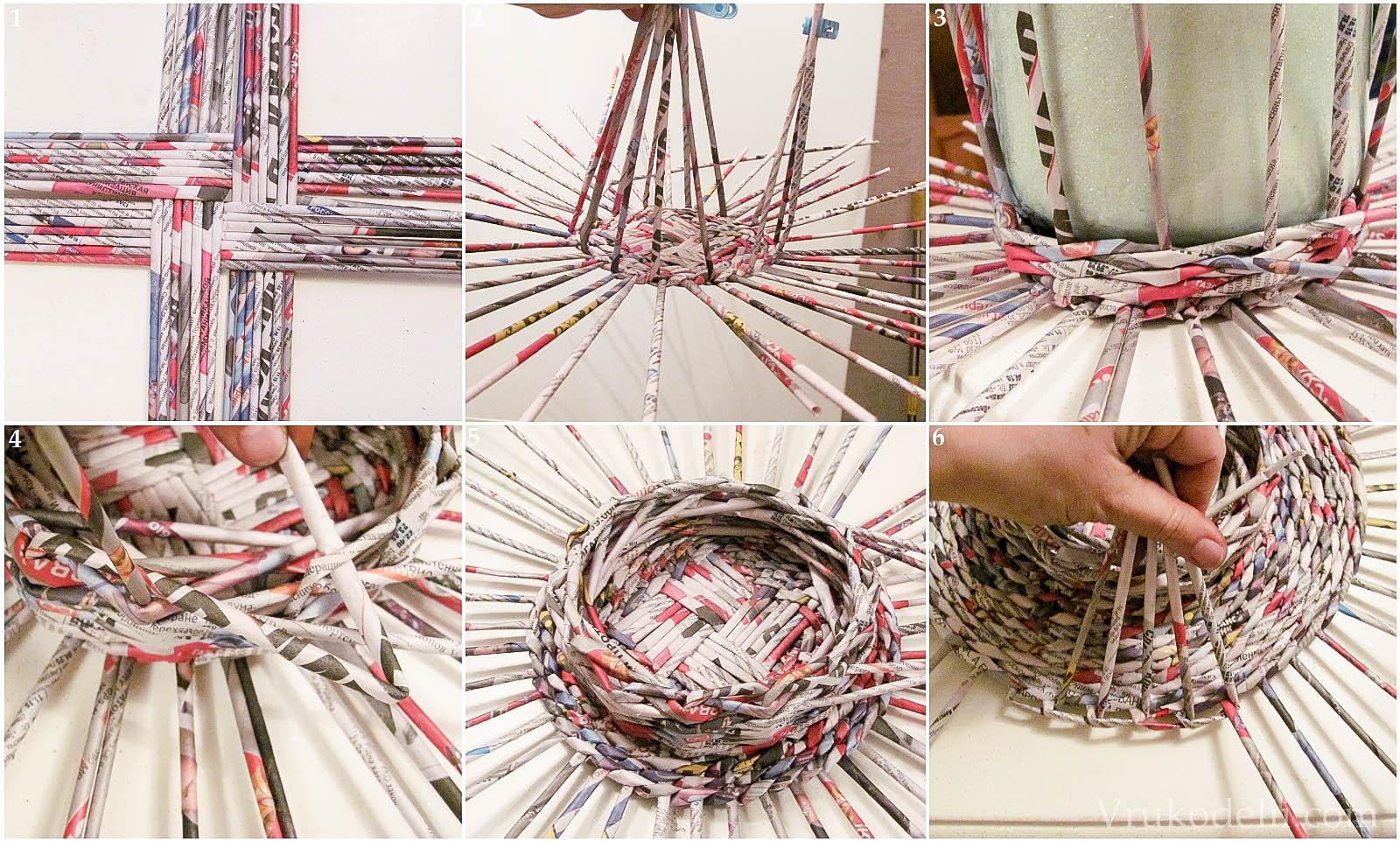 Новые идеи плетения из газетных трубочек мастер-классы