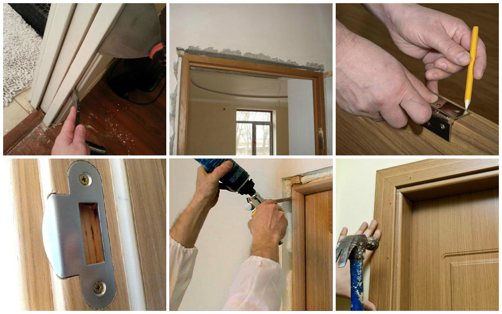 Этапы монтажа межкомнатной двери