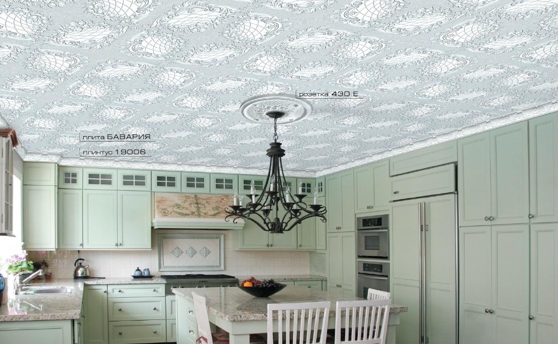 Полистирольные панели на потолок