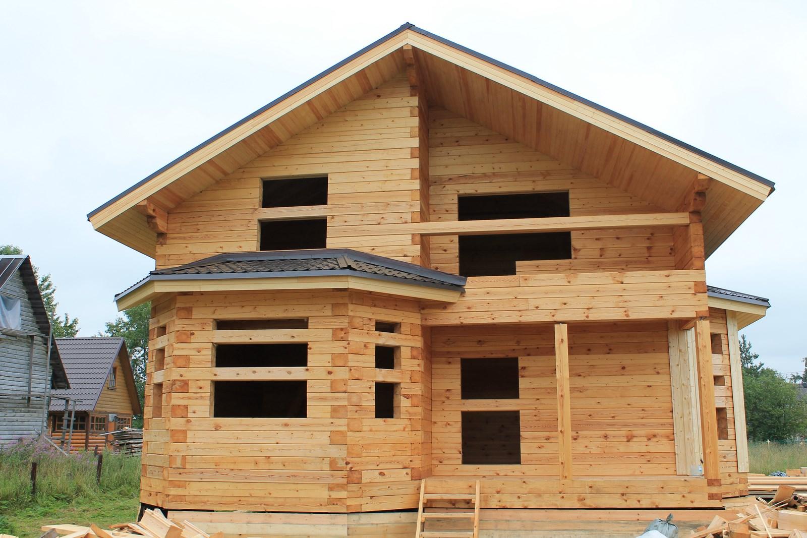 Строительство деревянных домов из бруса фото