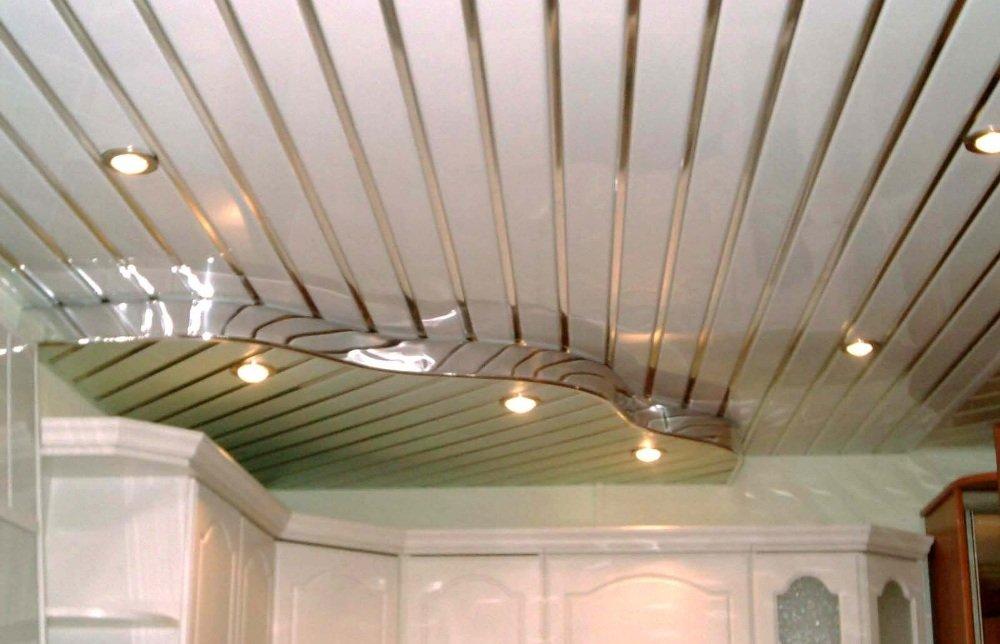 Потолок из пластиковых панелей дизайн