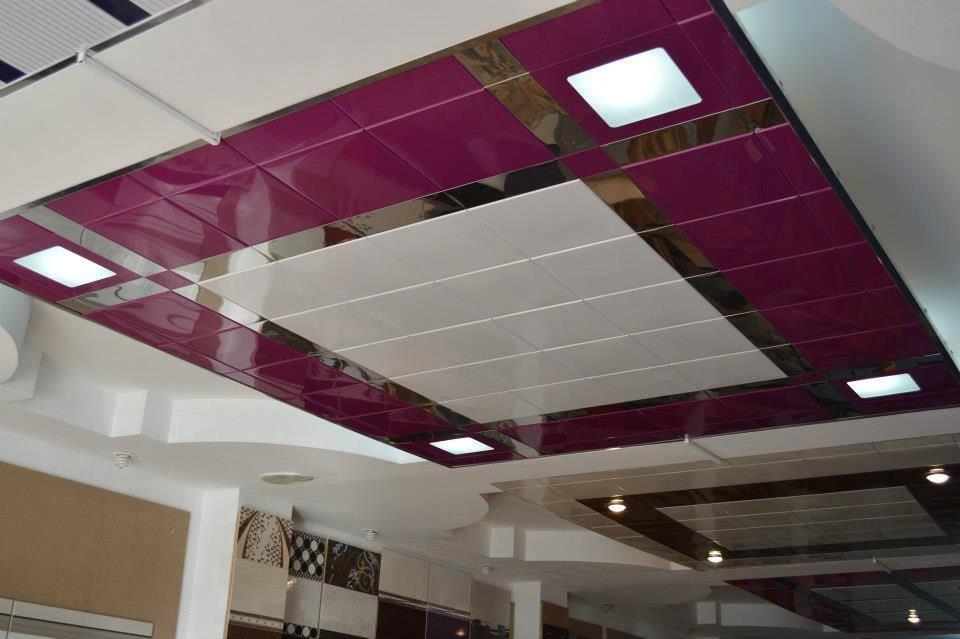 Подвесные металлические потолки фото