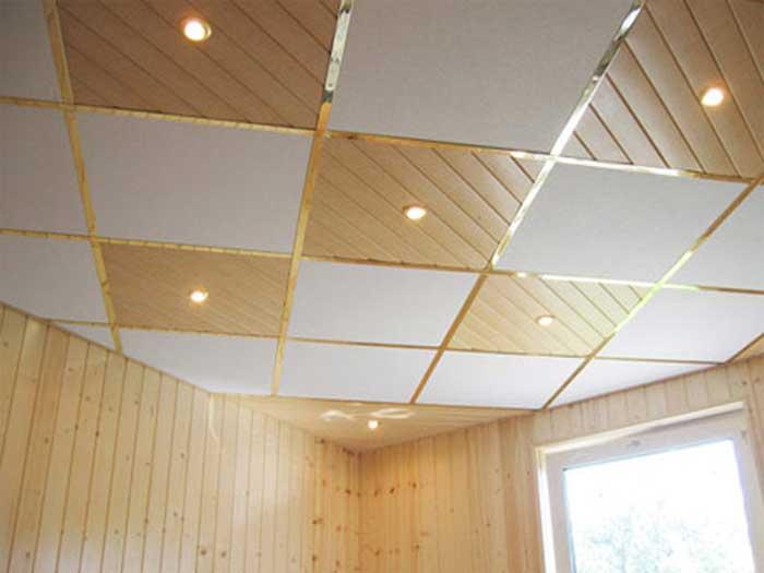 Подвесные металлические потолки фото3