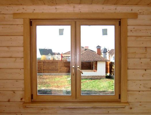 Деревянные окна со стеклопакетами фото