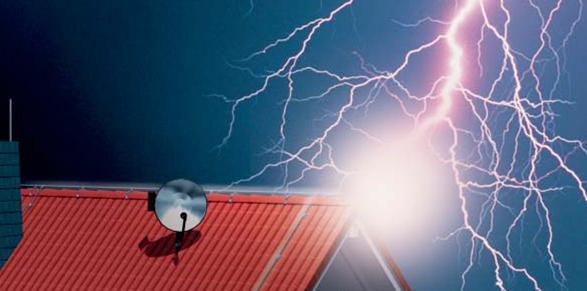 Защита дома от попадания молний фото