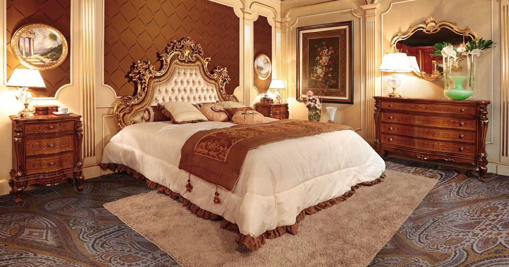 Классические итальянские спальни фото2