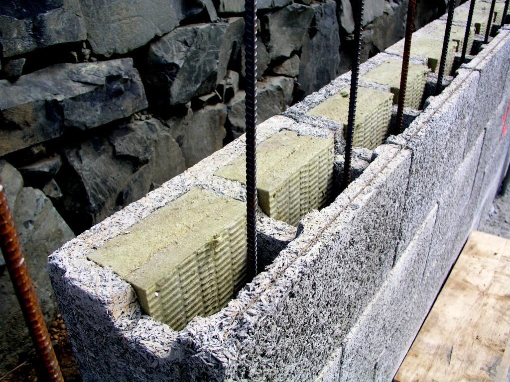 Монолитная стена из опилкобетона фото4