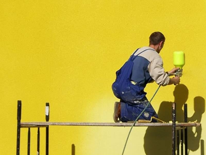 Подготовка фасада к окраске фото